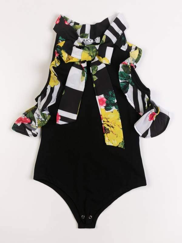 Body con rouches flowers - 44