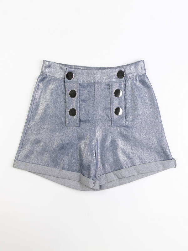 Shorts con bottoni Navy - 44
